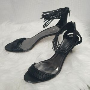 Coach Ladies Manya Black sandal sz 8.5